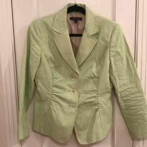 Seersucker Blazer in Springy green